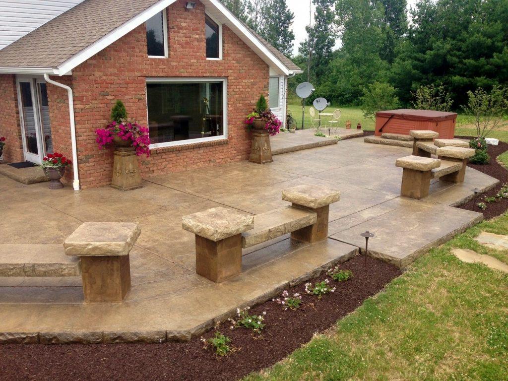 Decorative Concrete Patio