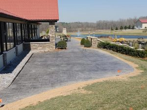 stamped concrete commercial