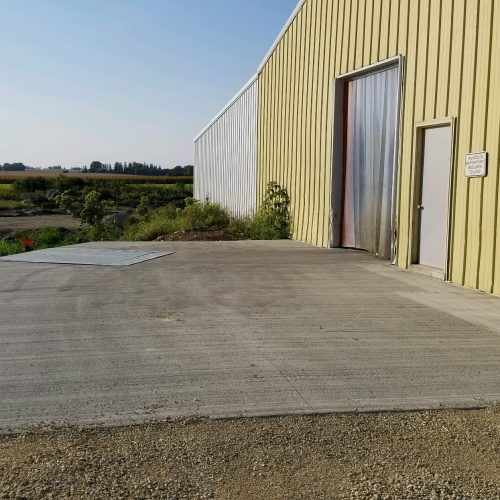 concrete loading area